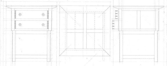 Cherry tables - technical drawing