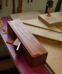 Cherry tables - trimming mitres on shooting board