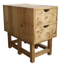 Dovetailed oak desk - drawer cabinet