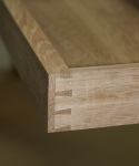 Assembled drawer showing dovetails