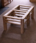 Elm coffee table - completed carcase