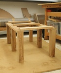 Elm coffee table - components loosely assembled