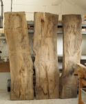 Elm coffee table - elm boards at workshop