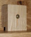 Half-timbered oak desk - button