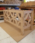 Half-timbered oak desk - completed underframe