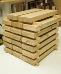 Half-timbered oak desk - stack of blanks
