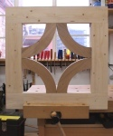 Half-timbered oak desk - test jig