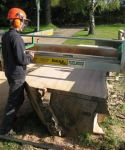 Hampstead oak - slabbing a wide oak board