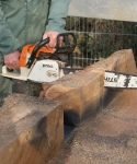Hampstead oak - using chainsaw to cut out nails
