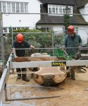 Hampstead oak - using slabber to cut wide board