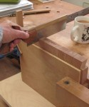 Nesting tables - protecting surface while sawing dovetails