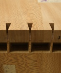 Nesting tables - test-fitting dovetails into pins