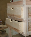 Completed drawers in place