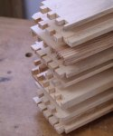 Dovetailed drawer parts