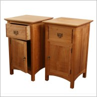 Pair of cherry cabinets