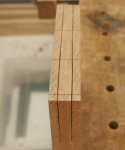 Panelled door - completed rip cuts in deep double tenons