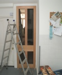 Panelled door - planed door tested for fit