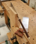 Panelled door - rip-sawing deep double tenons with western and Japanese saws