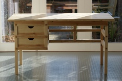 Pine desk front view