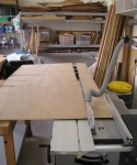 Cutting plywood strips for the formers