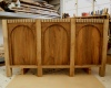 Walnut plinth - completed arcade with frieze