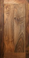 Walnut plinth - door panel detail