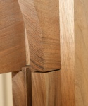 Walnut plinth - intersection of arch and column