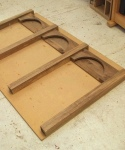 Walnut plinth - laying out arches and posts