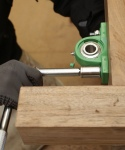 Walnut plinth - securing fixing bolts for steering assembly